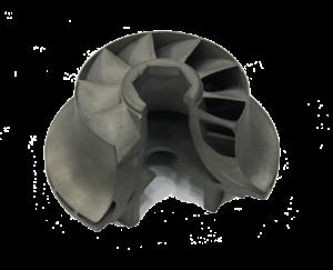 Metal 3D Printed Turbine Section