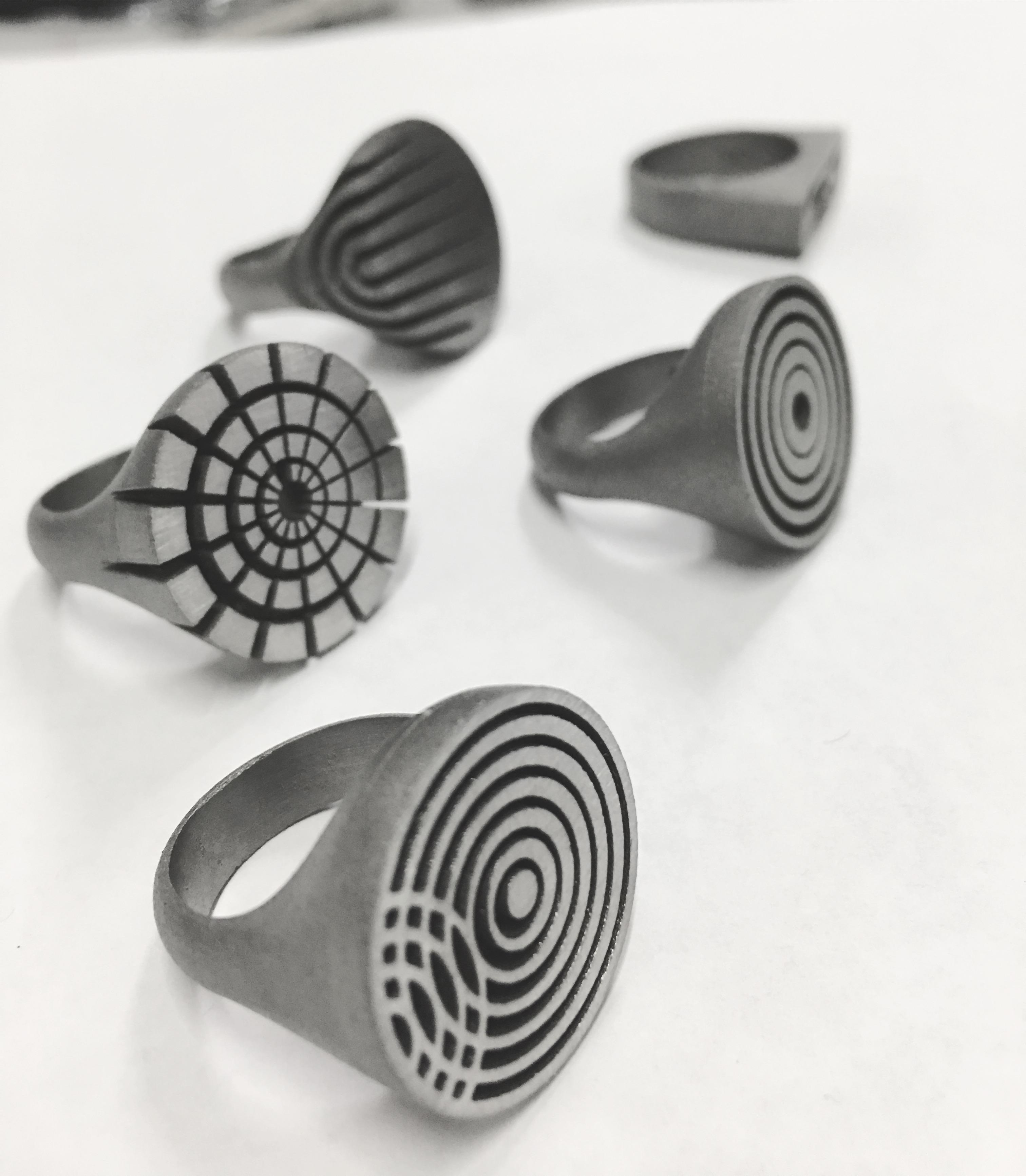 Carl Noonan Titanium printed rings