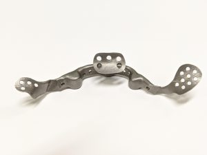 jaw bone back metal 3d